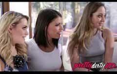 تريد ثلاث نساء جميلات أن يشعرن بك الديك سميكة