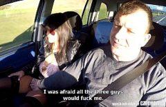 عاهرة جميلة استغل من قبله في السيارة