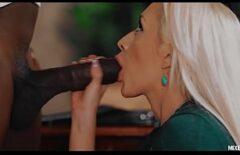 الأسود يضع الديك في فمها